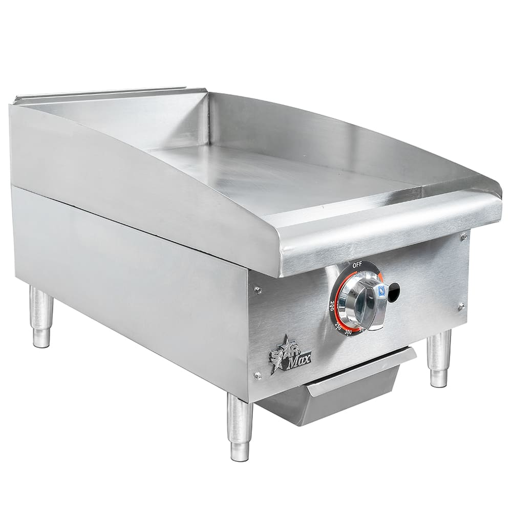 "Star 615TF 15"" Gas Griddle - Thermostatic, 1"" Steel Plate"
