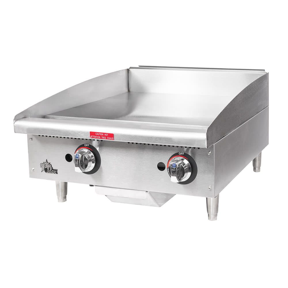 "Star 624MF 24"" Gas Griddle - Manual, 1"" Steel Plate"