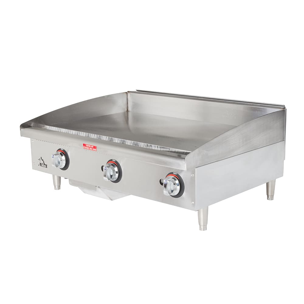 """Star 636MF 36"""" Gas Griddle - Manual, 1"""" Steel Plate"""