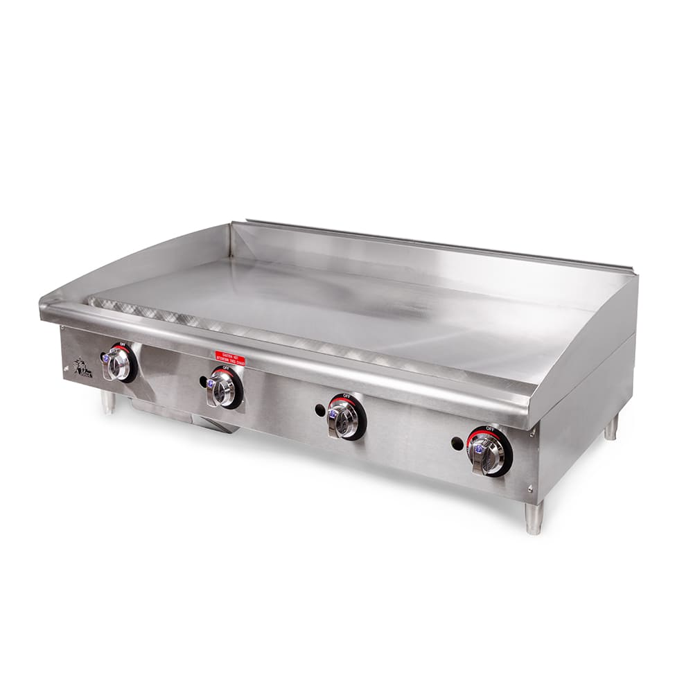 "Star 648MF 48"" Gas Griddle - Manual, 1"" Steel Plate"