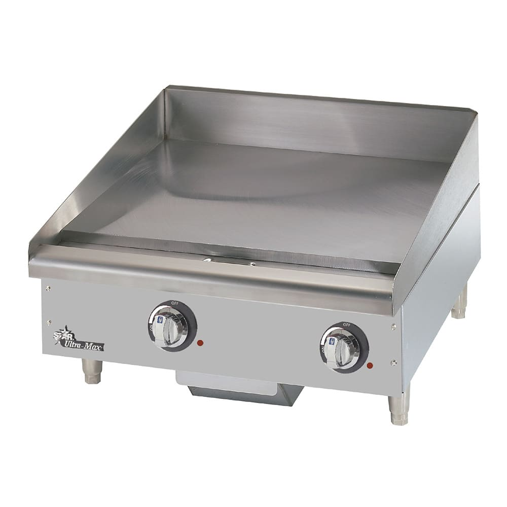 "Star 724TCHSA 24"" Electric Griddle - Thermostatic, 1"" Chrome Plate, 208v/1ph"