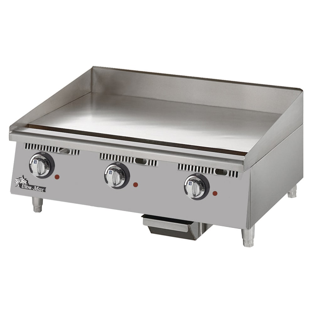 "Star 748TCHSA 48"" Electric Griddle - Thermostatic, 1"" Chrome Plate, 208v/1ph"