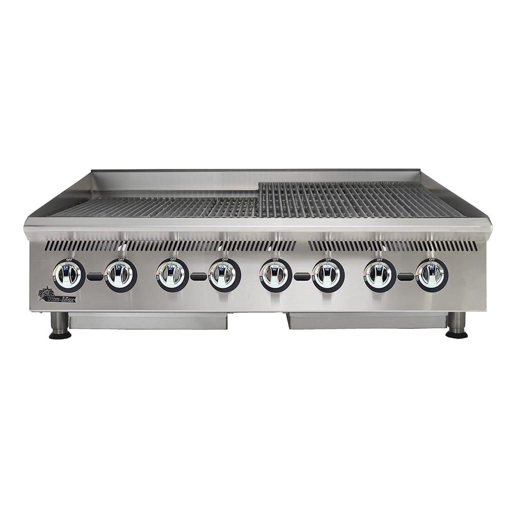 "Star 8048CBB 48"" Gas Charbroiler w/ Cast Iron Grates - Manual Controls, NG"