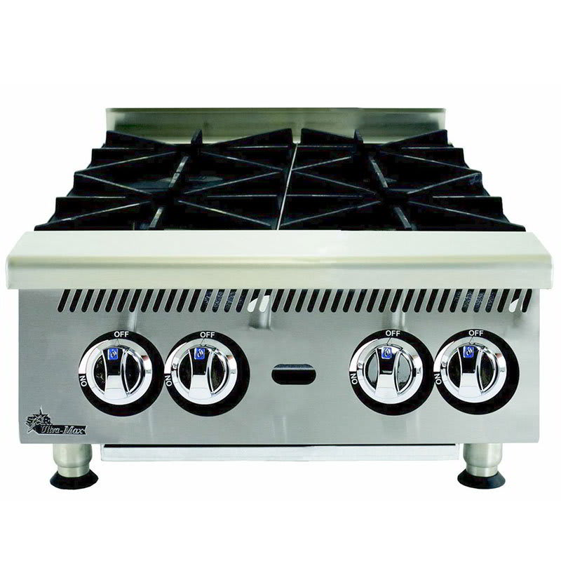 "Star 804HA 24"" Gas Hotplate w/ (4) Burners & Manual Controls"