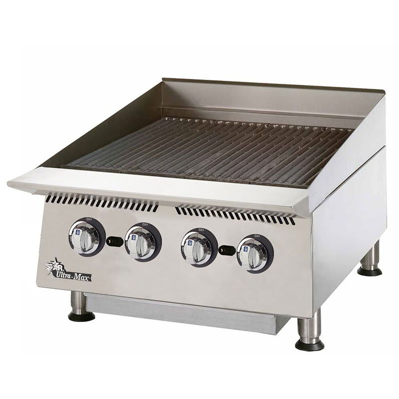 "Star 8124RCBB 24"" Gas Charbroiler w/ Manual Controls & Steel Radiants, 80000 BTU"