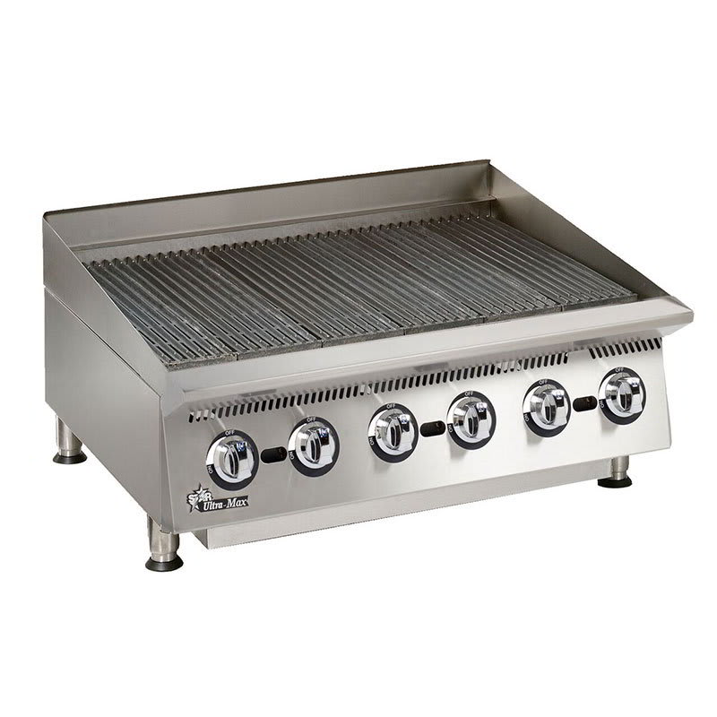 "Star 8136RCBB 36"" Charbroiler - Manual Controls, Steel Radiants, 120000-BTU, NG"