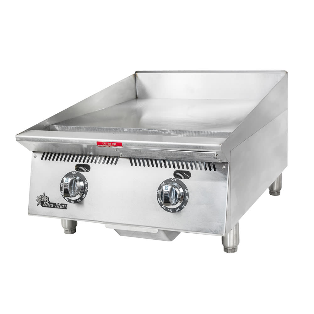 "Star 824TA 24"" Gas Griddle - Thermostatic, 1"" Steel Plate, NG"