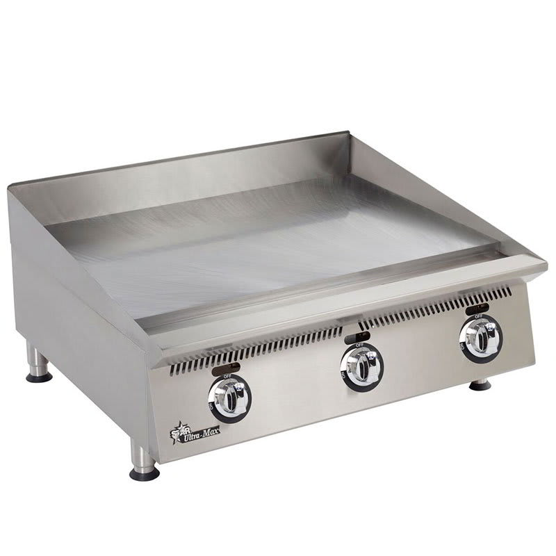 "Star 836MA 36"" Gas Griddle - Manual, 1"" Steel Plate, NG"