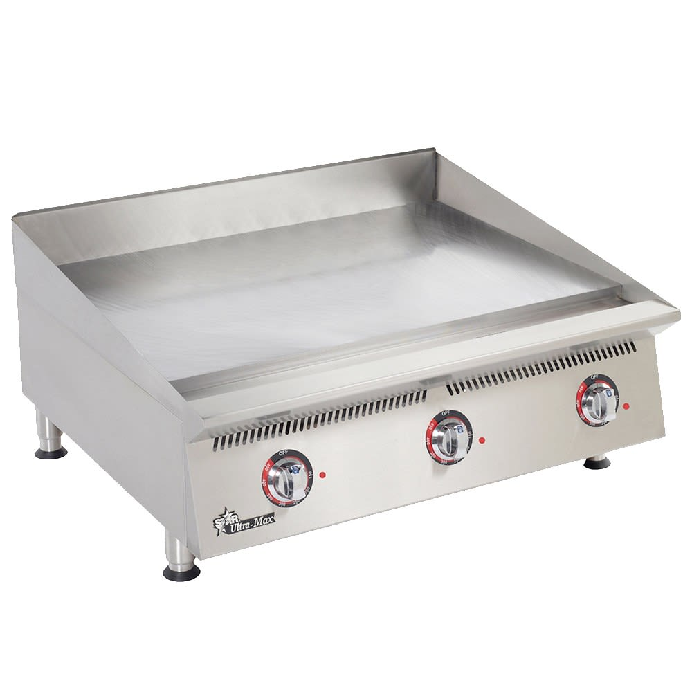 "Star 836TCHSA 36"" Gas Griddle - Thermostatic, 1"" Chrome Plate, NG"