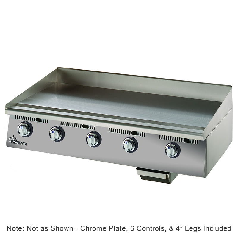 "Star 872TSCHSA 72"" Gas Griddle - Thermostatic, 1"" Chrome Plate, 120v"