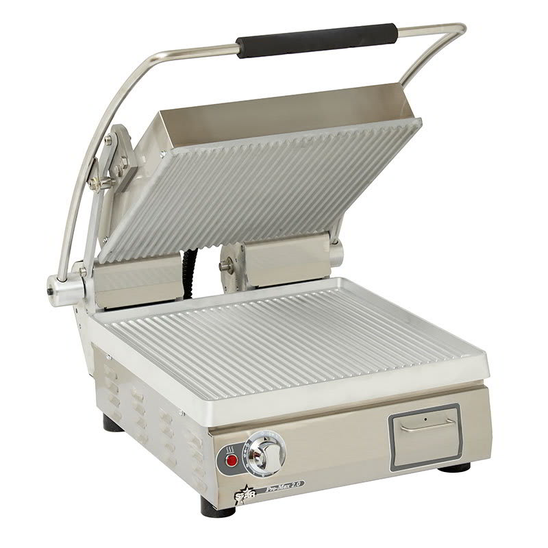 Star PGT14 Commercial Panini Press w/ Aluminum Grooved Plates, 208 240v/1ph
