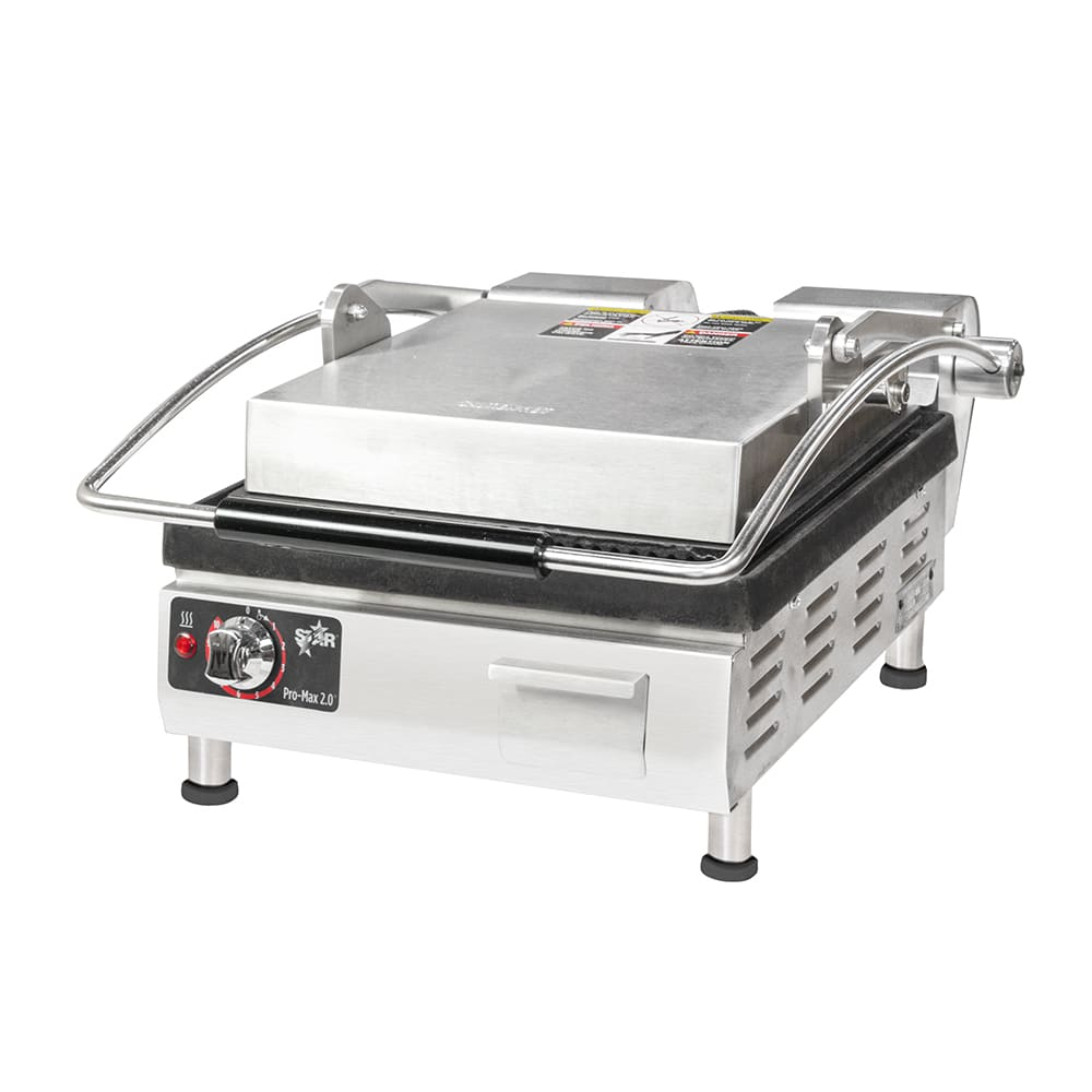 Star PGT14I Commercial Panini Press w/ Cast Iron Grooved Plates, 208-240v/1ph