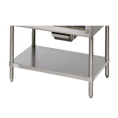 Star ESUM24SF Floor Model Stand, 23 x 24.25 x 22-in, w/ Bottom Shelf, Stainless
