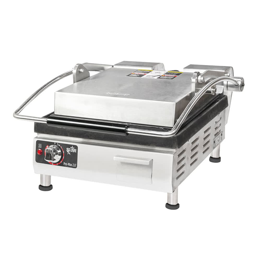 Star PST14I Commercial Panini Press w/ Cast Iron Smooth Plates, 208-240v/1ph