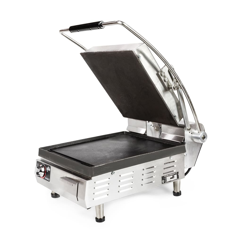 Star PST14I Commercial Panini Press w/ Cast Iron Smooth Plates, 208v/1ph