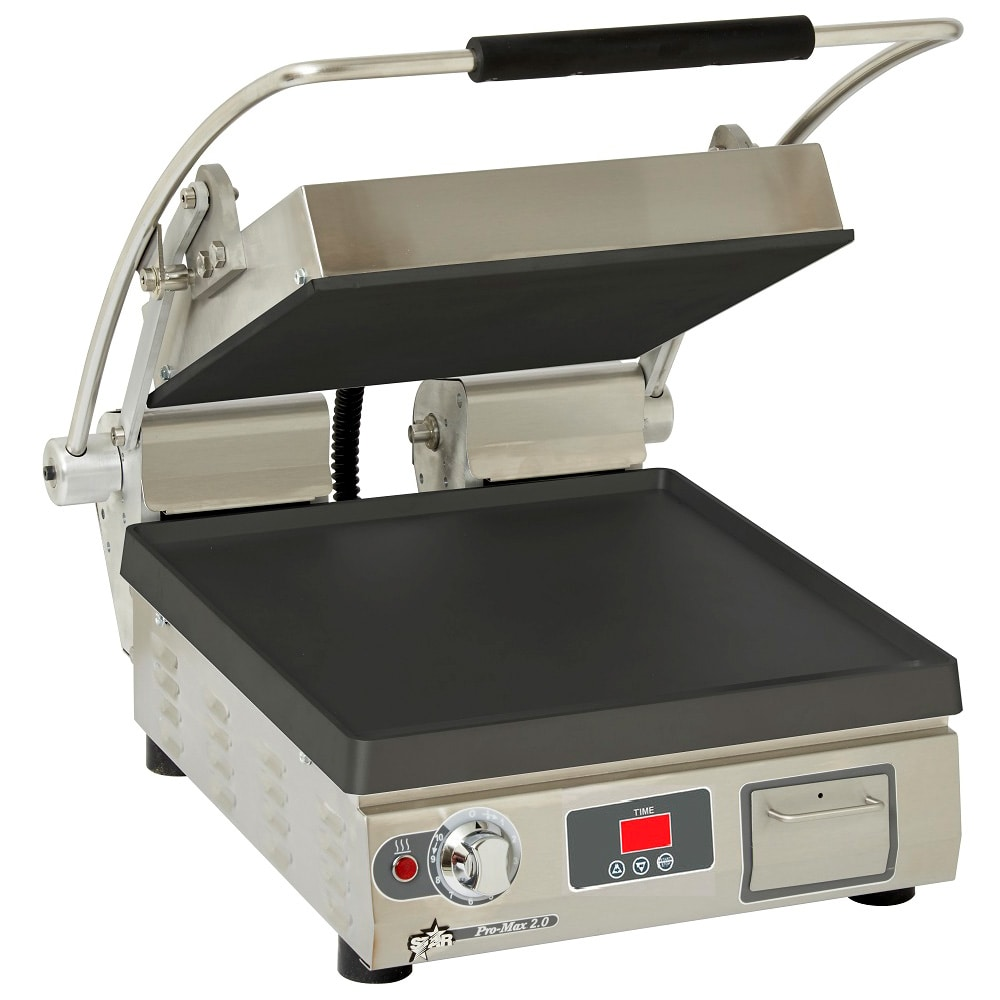 Star PST14IT Commercial Panini Press w/ Cast Iron Smooth Plates, 208-240v/1ph
