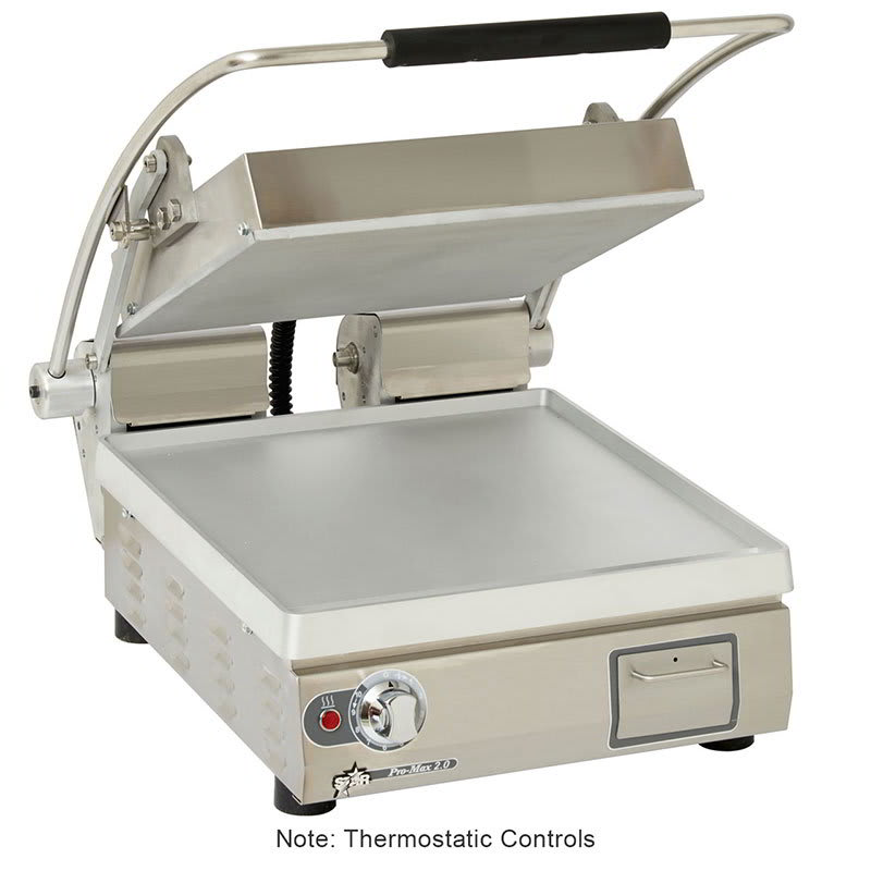 Star PST14T Commercial Panini Press w/ Aluminum Smooth Plates, 208 240v/1ph