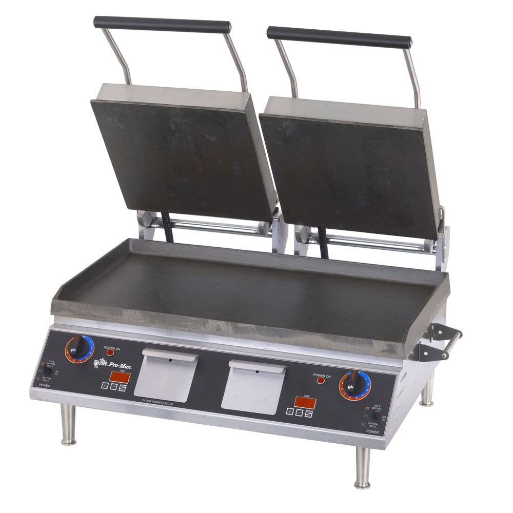 Star PST28IT Double Commercial Panini Press w/ Cast Iron Smooth Plates, 208-240v/1ph