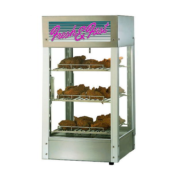 "Star HFD-1 15"" Self-Service Countertop Heated Display Case - (3) Shelves, 240v/1ph"