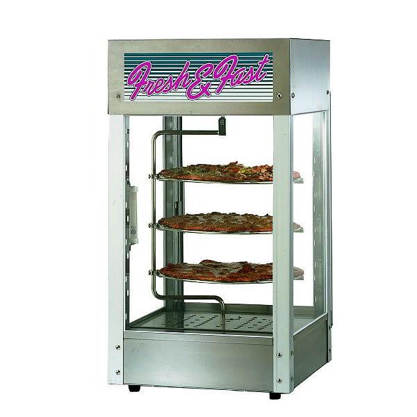 "Star HFD1CR Humidified Display Cabinet, Pizza Rack, 15 x 15"", 1-Door"