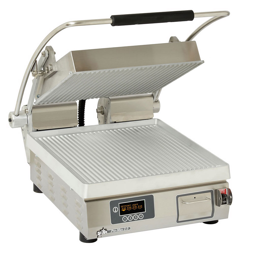 Star PGT14E Commercial Panini Press w/ Aluminum Grooved Plates, 120v/1ph