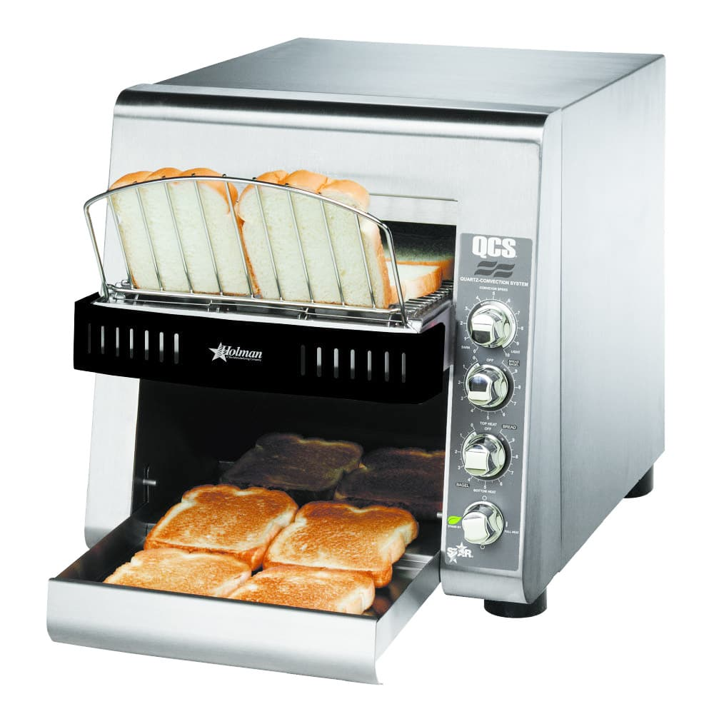 "Star QCS2-500 Conveyor Toaster - 500-Slices/hr w/ 10""W Belt, 120v"
