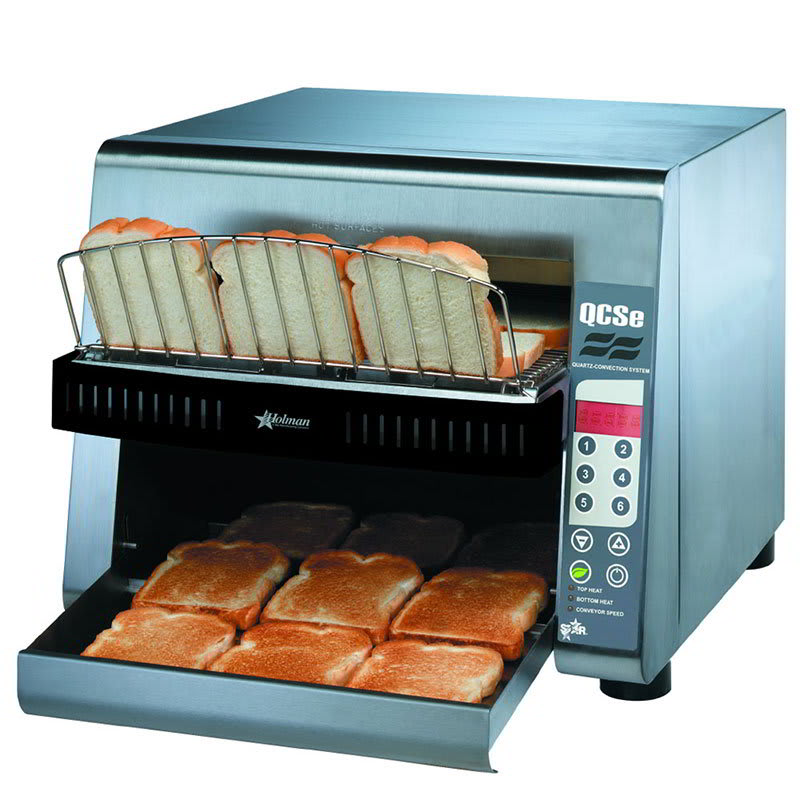 Star QCSE3-1300 208 Conveyor Toaster, Electronic Controls, 1300 Slices/Hr, 208 V