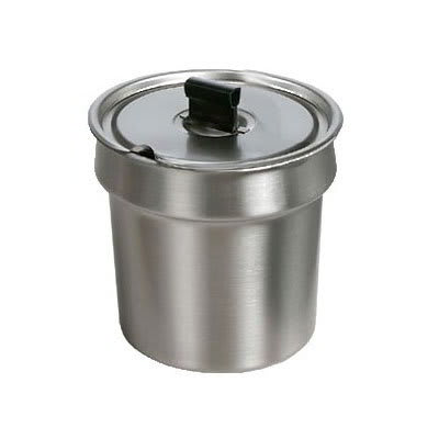Star SSB7 Stainless Steel Bowl Inset, W/Cover, 7 qt, For Star 7RW Model Warmers