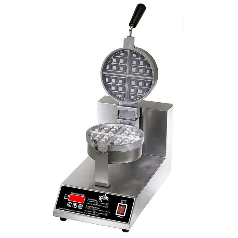 Star SWB7RBE120 Belgian Waffle Baker, Single, 7 in Round, 1-1/2 in Thick Grid, 120 V