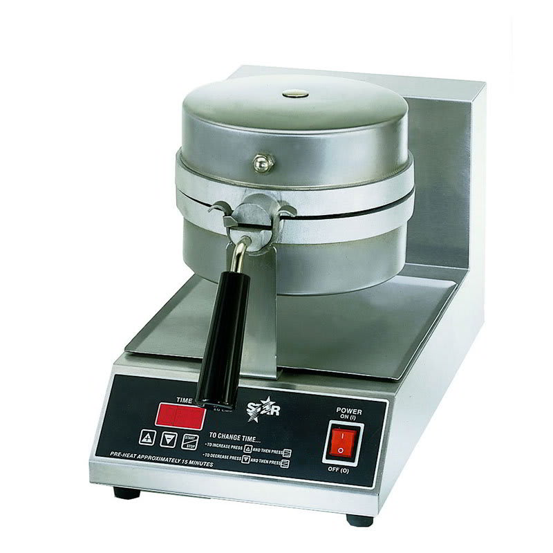 Star SWB8RBLE120 Belgian Waffle Baker, Single, 8 in Round, 1 in Thick Grid, 120 V