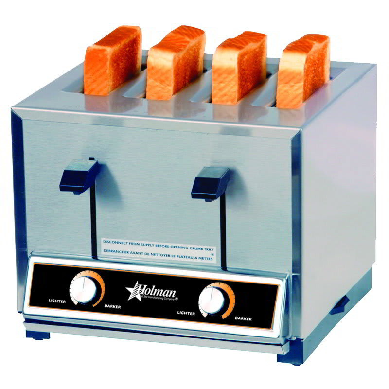 Star T4208240 Pop-Up Toaster, 4 Slice Bread or Bagel, Solid State Timer, 208/240 V