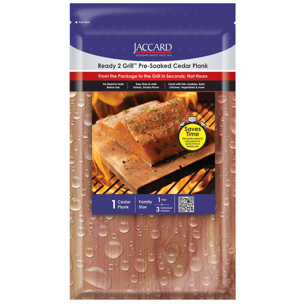 """Jaccard 201403 Pre-Soaked Cedar Grilling Plank - 11"""" x 5.5"""""""