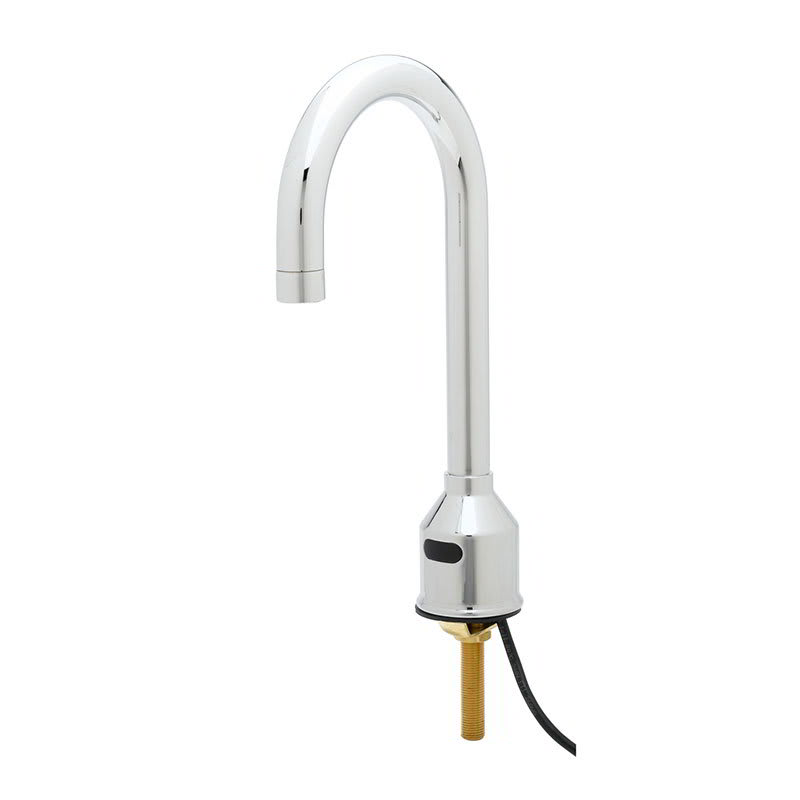 T&S 5EF-1D-DG Sensor Faucet, Deck Mount, Single Hole, Rigid Gooseneck, 100 240v/1ph