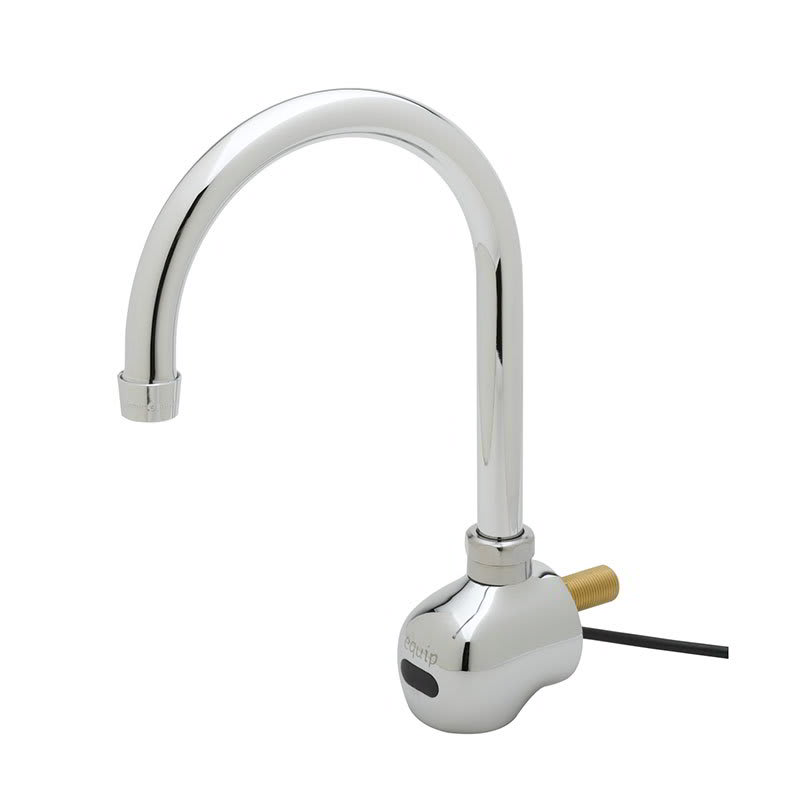 "T&S 5EF-1D-WG Sensor Faucet, Wall Mount, Single Hole, 6 3/8"" Spread Spout, 100 240v/1ph"