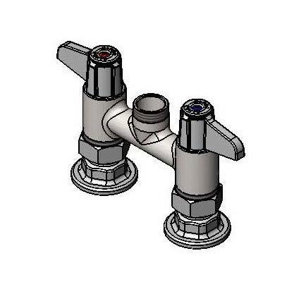T&S 5F-4DLX00 Equip Faucet, 4 C/C Deck Mount, Swivel Base, Less Nozzle