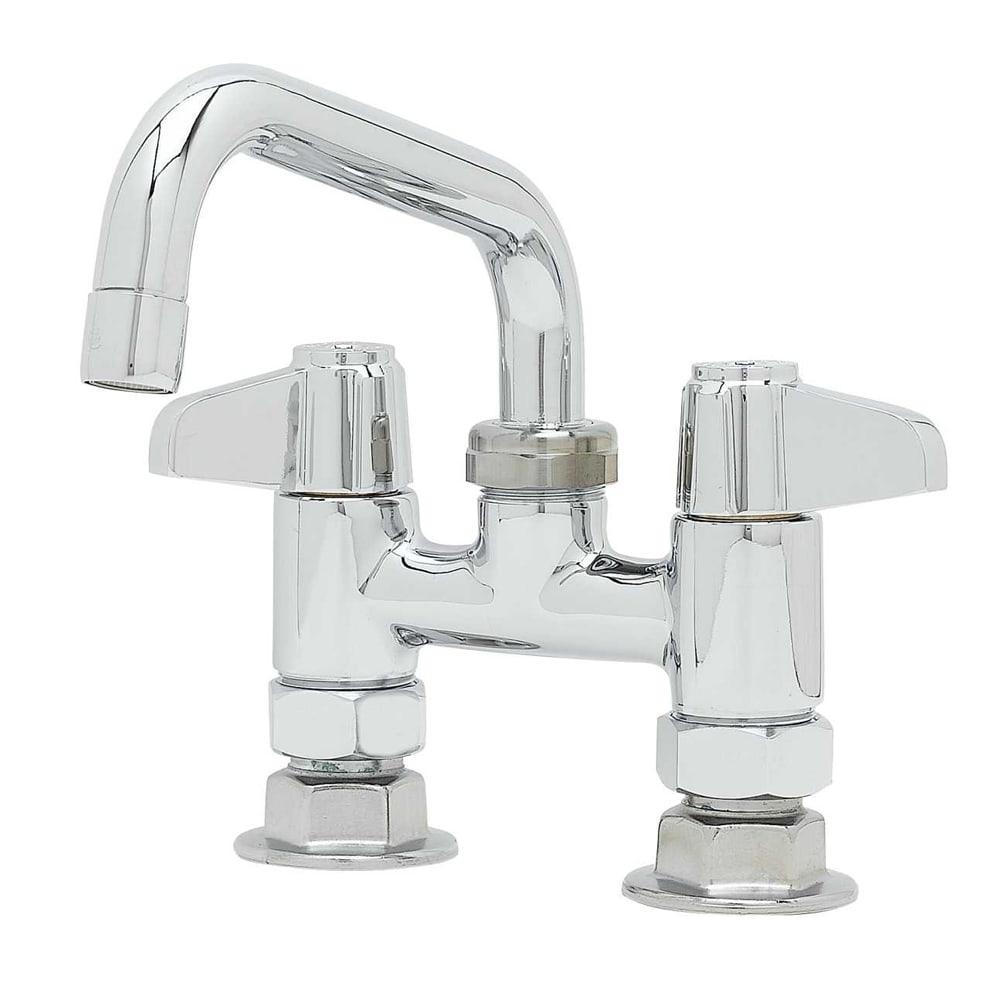 """T&S 5F-4DLX06 Equip Faucet, Deck Mount, 4"""" Centers, 6"""" Swivel Spout"""