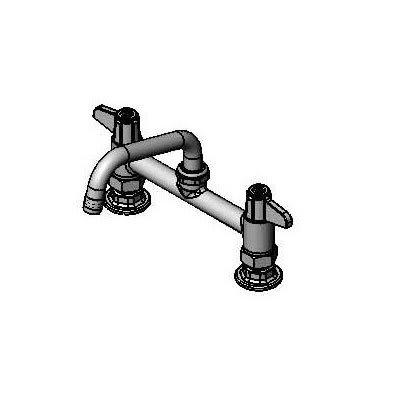 """T&S 5F-8DLX06 Deck Mount Faucet w/ 6"""" Swing Nozzle, 6"""" Center"""