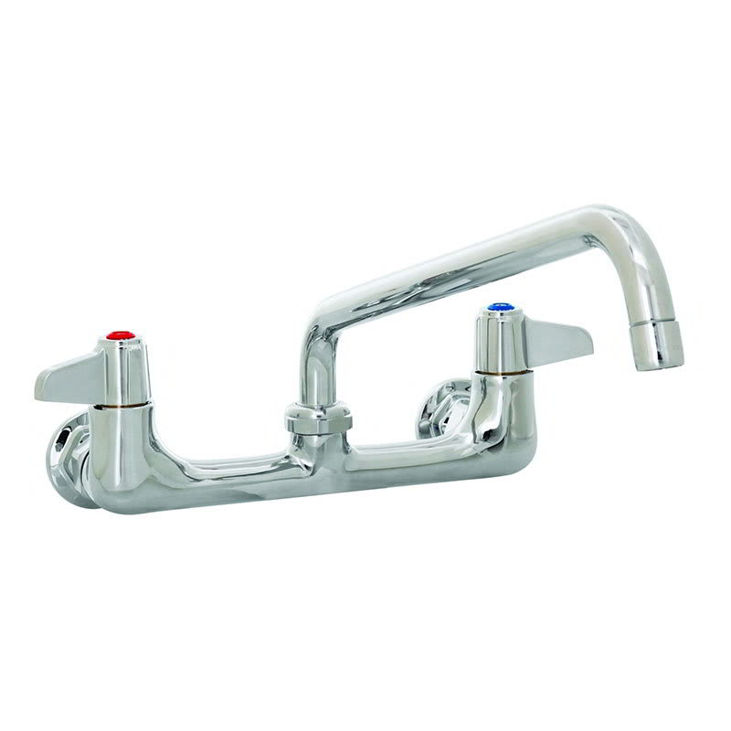 "T&S 5F-8WLX06 Equip Faucet, Wall Mount, 8"" Centers, 6"" Swivel, 2"" Flange"