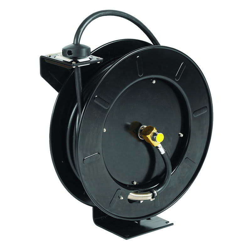"T&S 5HR-242 Equip Open Hose Reel, 50 ft of 3/8""Diameter, Powder Coated Steel"
