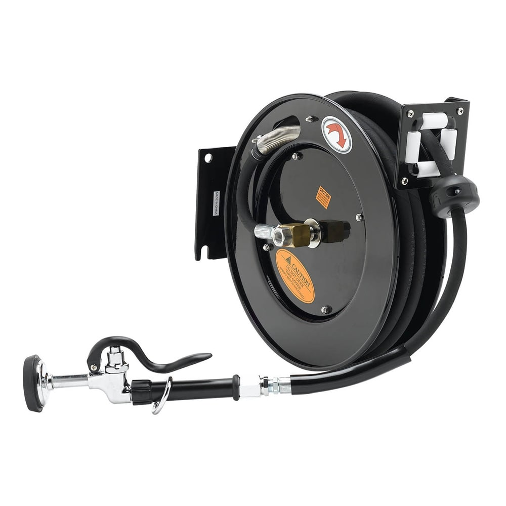 T&S 5HR-242-01 Equipment Open Hose Reel, 50 ft, Powder Coated Steel, Spray Valve