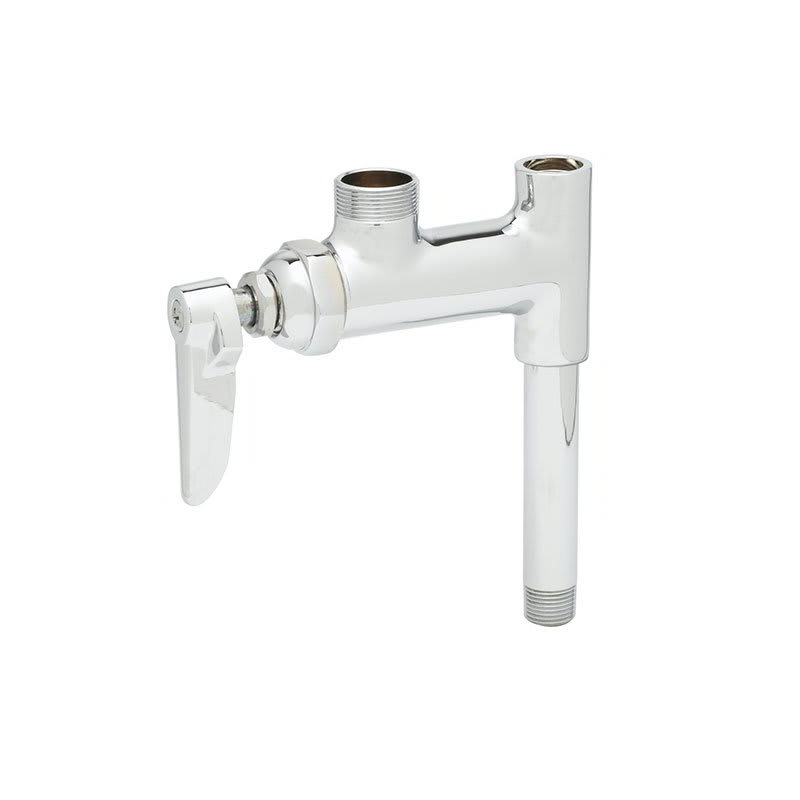 "T&S B-0155-01LN Add-On Faucet for Pre-Rinse Units, NO Nozzle, 3"" Nipple"
