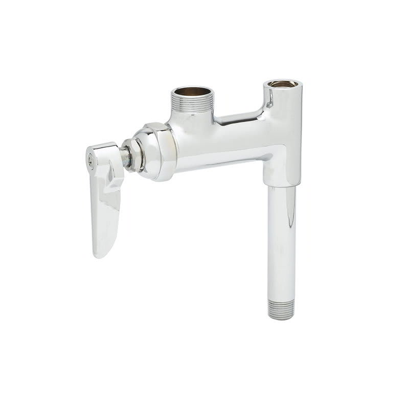 "T&S B-0155-05LN Add-On Faucet, Less Nozzle, 5"" Nipple for Prerinse Units"
