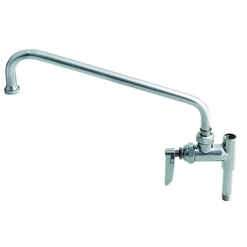 "T&S B-0156-CR Add-On Faucet, Ceramic Cartridge, 12"" Swing Nozzle"
