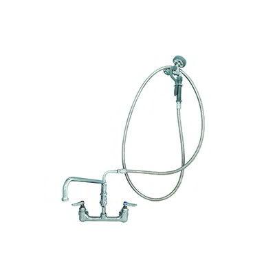 """T&S B-0175 Spray Unit/Swing Spout Faucet, 12"""" Swing Nozzle, 104""""Hose"""
