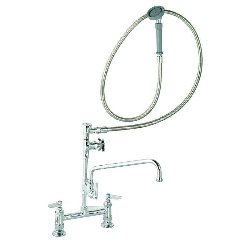 """T&S B-0177 Spray Unit/Swing Spout Faucet, 12"""" Swing Nozzle, 72""""hose"""
