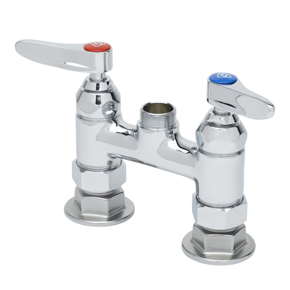 "T&S B-0225-LN Deck Mixing Faucet, 1/2"" IPS Female, 4"" Centers, Deck Mount"