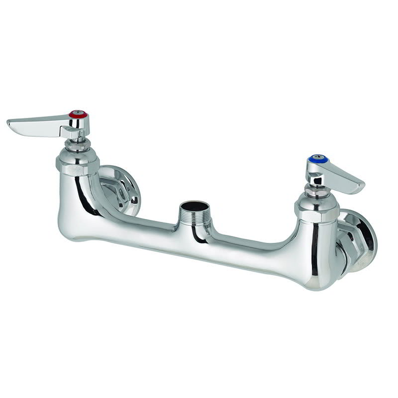 "T&S B-0230-LN Sink Mixing Faucet w/o Nozzle, Wall Mounted, 8"" Center"