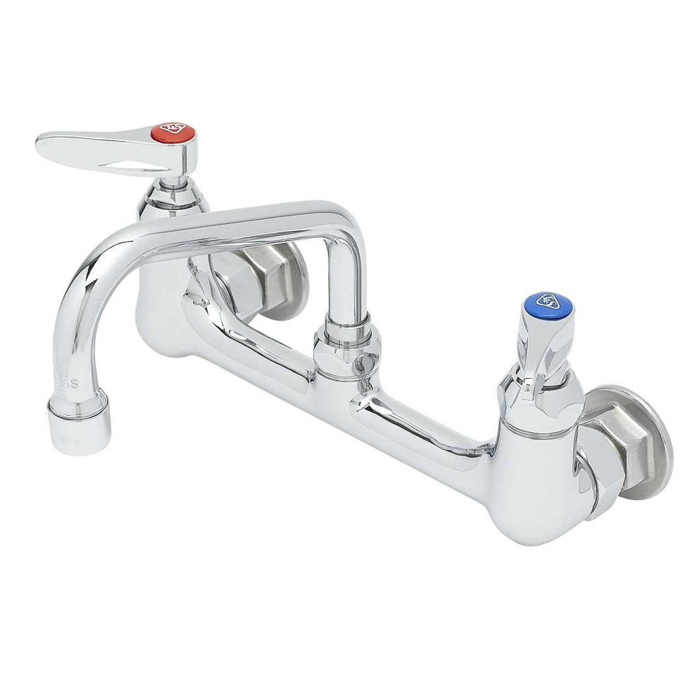 "T&S B-0232 Sink Mixing Faucet, 8"" Centers, 6"" Swing Nozzle"