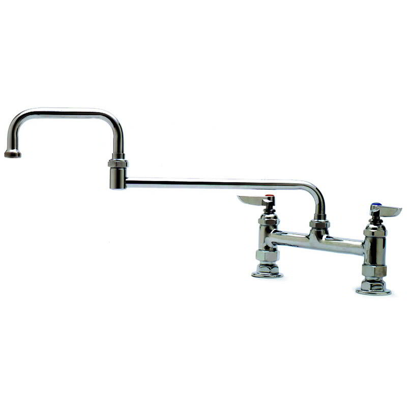 "T&S B-0245 Deck Mixing Faucet, 18""Double Joint Swing Nozzle"
