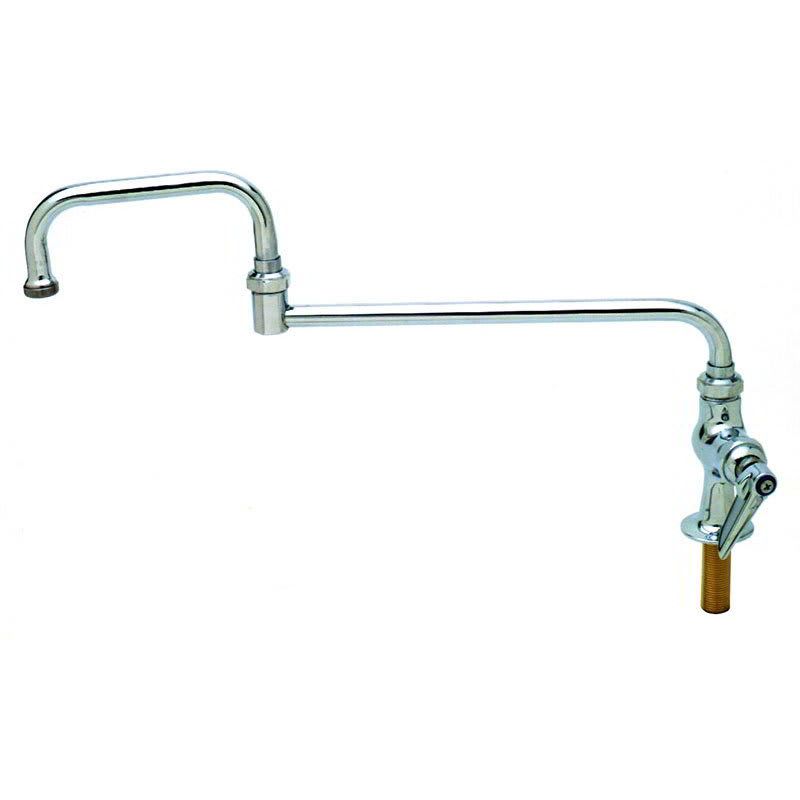 """T&S B-0256 Single Pantry Faucet w/ Double Joint Swing Nozzle, 15"""""""